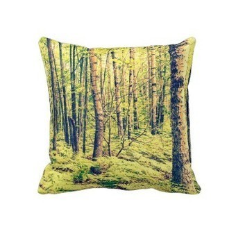 Vintage Style Trees and Ferns Woodland Throw Pillows | Z Artwork | Scoop.it