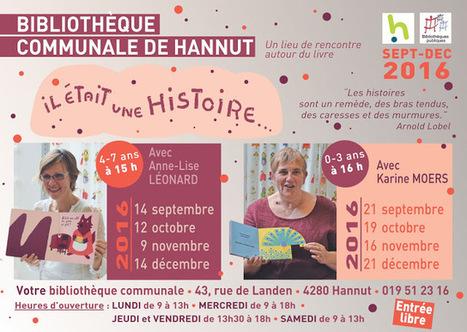 Il était une histoire... à la Bibliothèque communale de Hannut | Escapages | Scoop.it