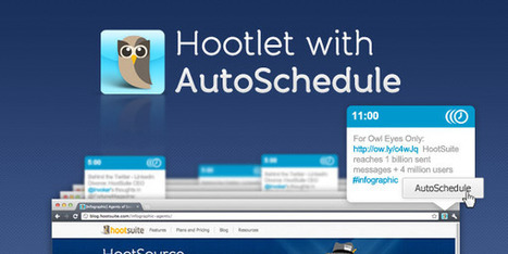 HootSuite Adds More Awesome to Hootlet with AutoSchedule | Social Media Curator | Scoop.it