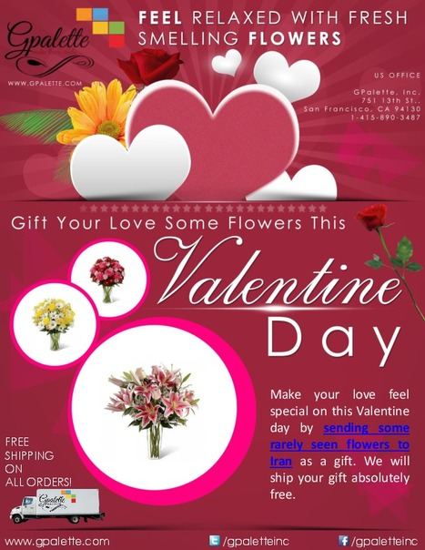 Gift Your Love Some Flowers This Valentine Day | Send Gifts To Iran | Scoop.it
