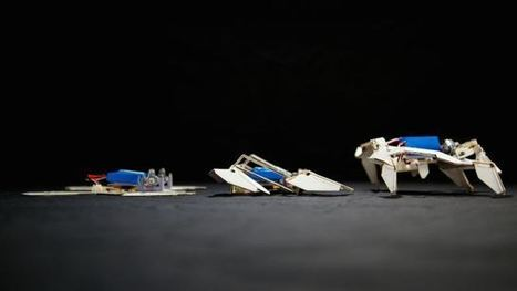Watch the first self-folding robot use origami to crawl | ScienceNow | Scoop.it