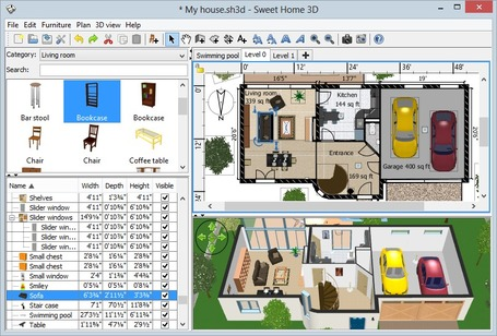 Sweet Home 3D - Draw floor plans and arrange furniture freely | Best Freeware Software | Scoop.it