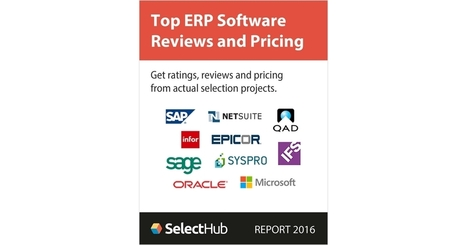 Top ERP Software Reviews and Pricing 2016--Free Analyst Report | Supply chain News and trends | Scoop.it