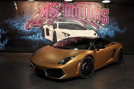 Gold Mat Lamborghini LP-560 wrapping by Elite Wrap | MotorExposed.com | Car news | Scoop.it
