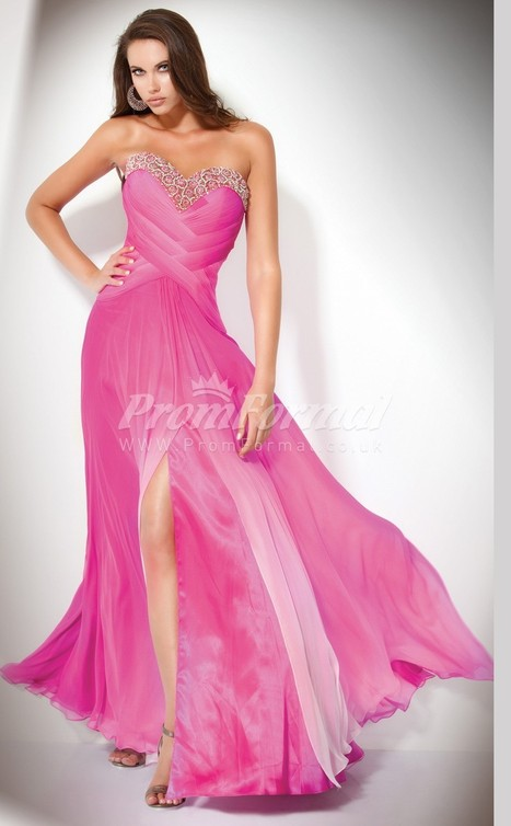 Stunning Chiffon Sweetheart A-line Sweep Train Evening Dress(PRJT04-0568) - promformal.co.uk | Prom & Formal | Scoop.it