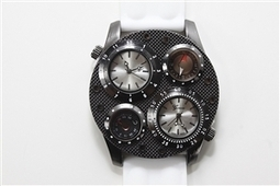 Dual Time White Watch | Hot Geneva inspired watches | Scoop.it