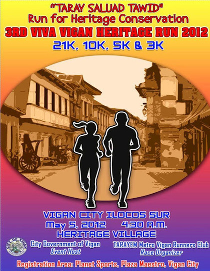 3rd Viva Vigan Heritage Run 2012 @ Ilocos Sur – May 5, 2012 | The Traveler | Scoop.it