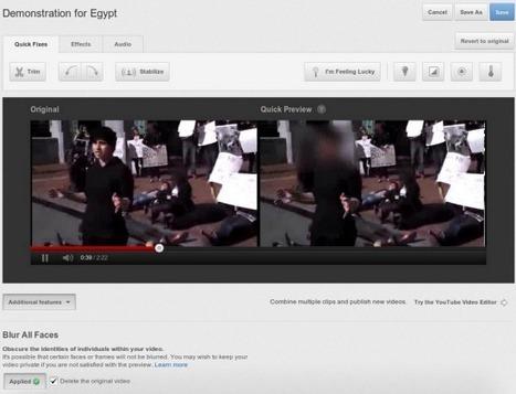 Dans Youtube, flouter les visages est désormais possible. | Time to Learn | Scoop.it