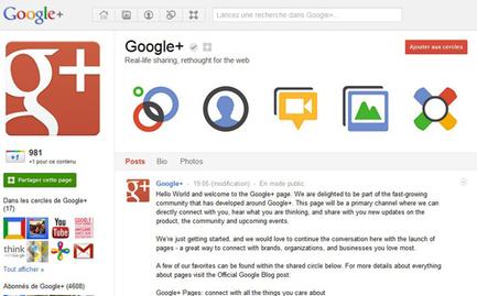 """Google+ : les marques sont les bienvenues ! / Presse Citron   """"Je ne suis pas un curateur...je suis un veilleur libre !""""   Scoop.it"""