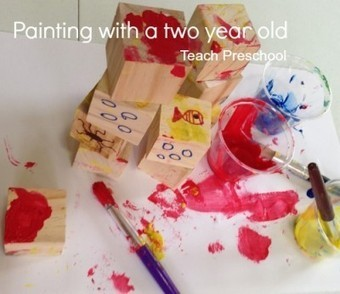 Painting with a two year old | Teach Preschool | Scoop.it