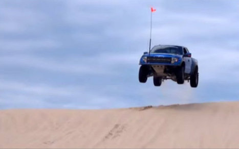 HUMP DAY JUMP Raptor Flies at Silver Lake Sand Dunes! - Ford Trucks | Mikes Auto News | Scoop.it