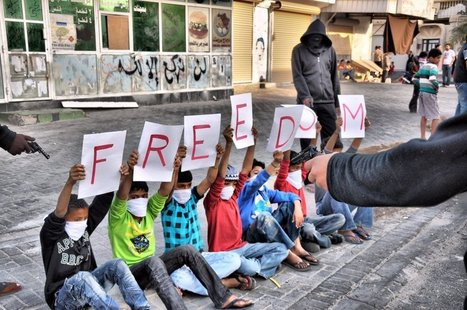 Bahraini youth protesting for freedoms at gunpoint! | Human Rights and the Will to be free | Scoop.it
