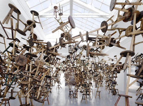 "Ai WeiWei's ""Bang"" Installation Features 886 Wooden Stools 