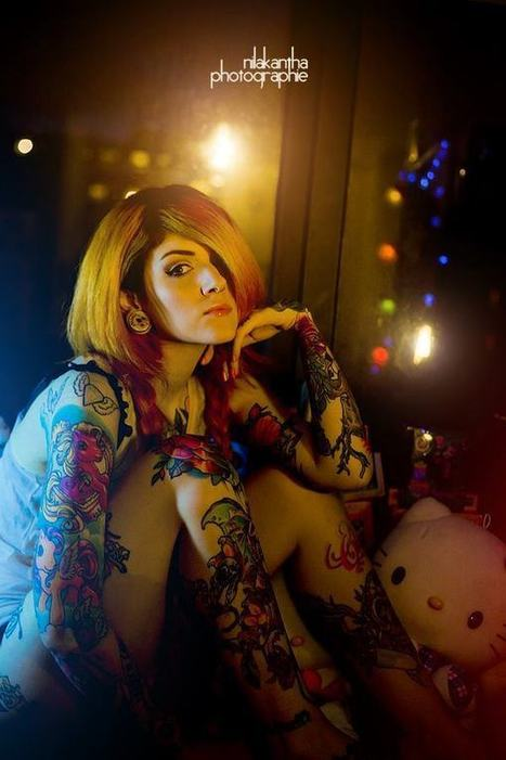 Who Knows About Ink, French Photographer Nilakantha Knows It And Owns It   Inked Girls   Scoop.it