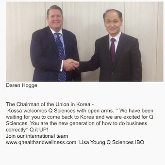 Q Sciences with Lisa Young: Tony Stephan featured in a medical journal in South Korea. | Q Sciences Business Opportunity with Lisa Young | Scoop.it