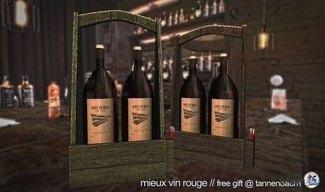 Mieux Vin Rouge Carrier Tannenbaum Gift by Xin | Teleport Hub - Second Life Freebies | Second Life Freebies | Scoop.it