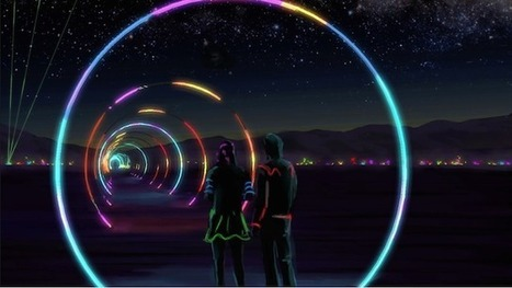 Burning Man's Largest Audio Visualizer? A 1,000' Light Tunnel | The Creators Project | audio branding | Scoop.it