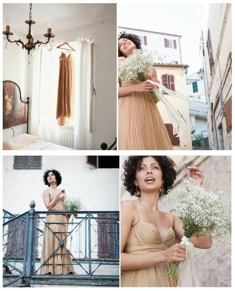 A ligh-brown dress for an intimate wedding in Marche | Le Marche another Italy | Scoop.it