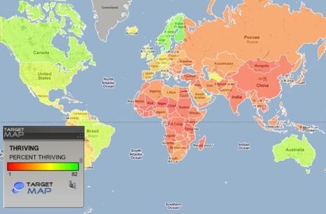 World map of HAPPINESS MAP by Country - TargetMap | Mais qu'est-ce qui nous rend heureux ? | Scoop.it
