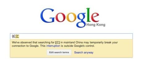 En Chine, Google abandonne son système de notification de la censure | Censure web en Chine | Scoop.it