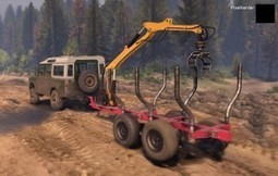 Land Rover Series III 109 with Mini Log Trailer | Spintires World | Scoop.it