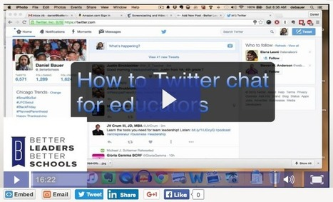 Twitterchats?: A Guide to Twitter for Educators | Edtech PK-12 | Scoop.it