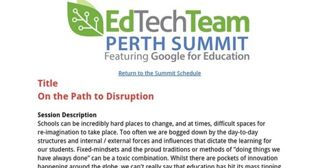 On the Path to Disruption | 21st Century School Libraries | Scoop.it