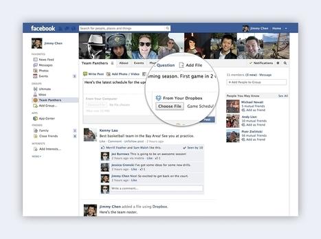 Dropbox It Like It's Hot: Integration With Facebook Brings Cloud File Sharing To Groups - AllFacebook   Digital Media Strategies   Scoop.it