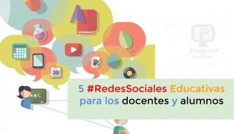 5 #RedesSociales educativas para los docentes y alumnos | Profesoronline | Scoop.it