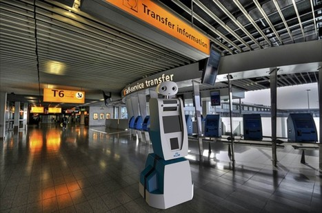 "Robot ""Spencer"" to guide KLM passengers at Amsterdam Airport Schiphol 