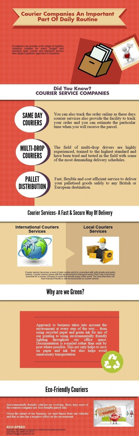Courier Services- A Fast & Secure Way Of Delivery | Visual.ly | Courier Services | Scoop.it