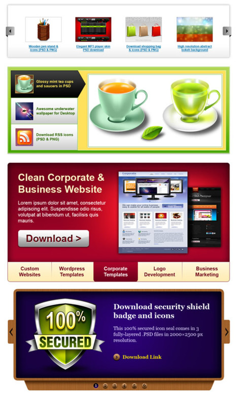 72 Free PSD Web Design Elements PSD files | Aries-Graphic Design & Internet Marketing | Scoop.it
