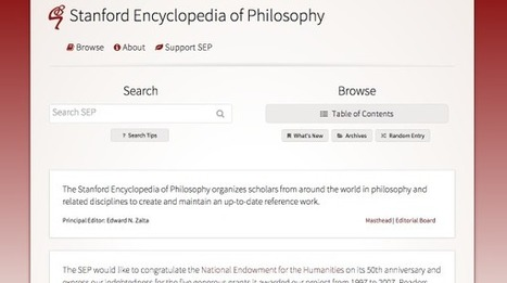 Enciclopedia di Filosofia dell'università di Stanford: Il miglior sito del web è un'enciclopedia filosofica - Wired | AulaUeb Filosofia | Scoop.it