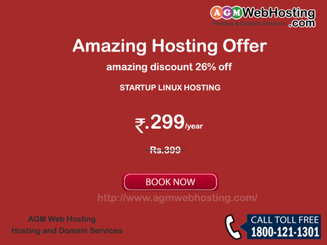 Amazing Hosting offer Save Flat 26% off at AGMWebHosting | AGM Web Hosting | Scoop.it