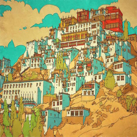 Fantastic Cities: An Exquisite Architectural Coloring Book for Creative, Stressed-Out Adults   Le It e Amo ✪   Scoop.it