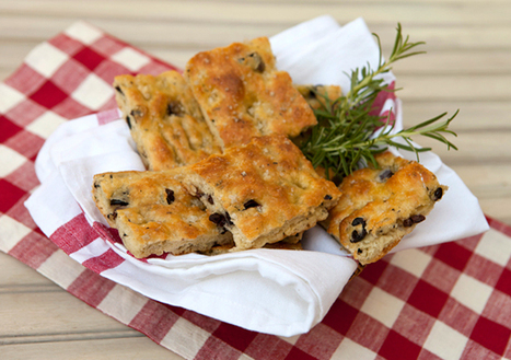 Olive & Rosemary Focaccia | Food and Family | Scoop.it