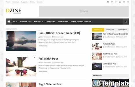 DZINE | Blogger themes | Scoop.it