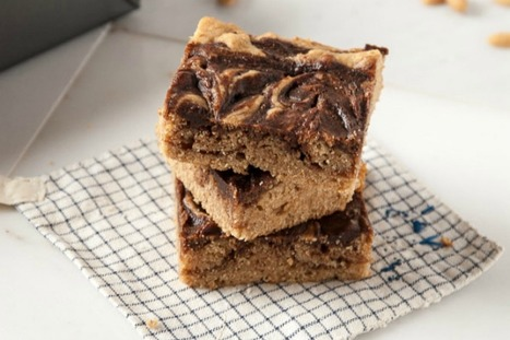 Peanut Butter and Nutella Bourbon Blondies [Vegan] | My Vegan recipes | Scoop.it