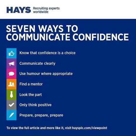 #HR 7 ways to communicate confidence by @HaysWorldwide | #HR #RRHH Making love and making personal #branding #leadership | Scoop.it