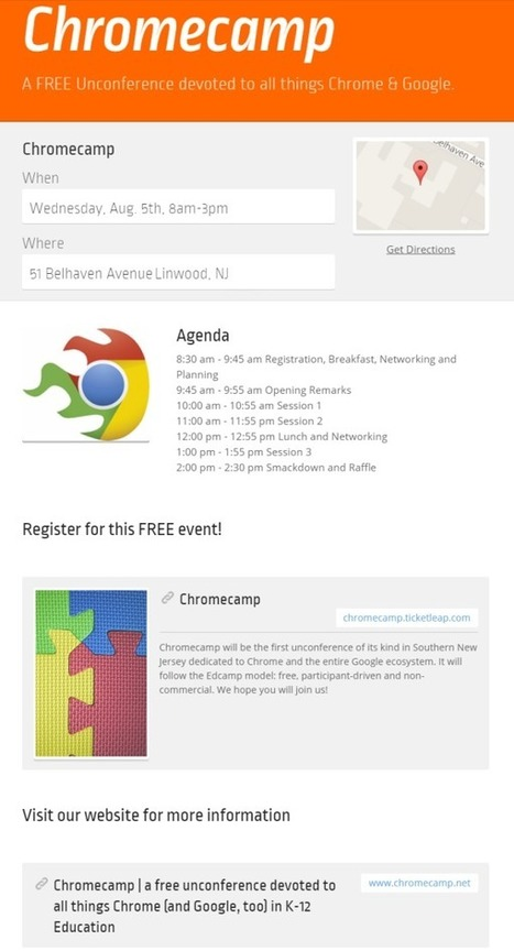 Chromecamp | a free unconference devoted to all things Chrome (and Google, too) in K-12 Education (Southern NJ) | On education | Scoop.it