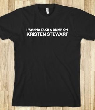 PHOTOS: Horrible T-Shirts Declare Kristen Stewart A 'Trampire' - Styleite | slut-shaming | Scoop.it