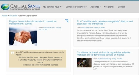 Capital Santé | Showcase of custom topics | Scoop.it