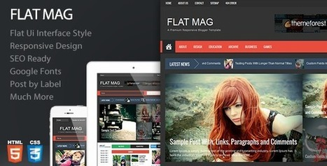 Flat Mag Responsive Magazine Blogger Template | Blogger themes | Scoop.it