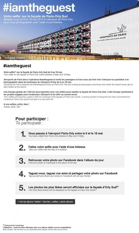 Aéroports de Paris lance un concours pour afficher votre selfie sur la façade d'Orly Sud   Revue de Presse Marketing   Scoop.it