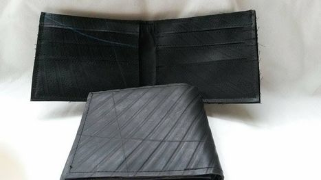 Recycled Inner Tube Wallets, ethically handcrafted by disadvantaged home based women workers | Recycled Inner Tube Products | Scoop.it