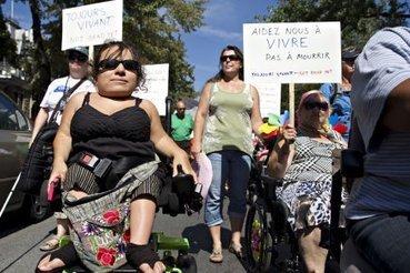 Première manif de soutien aux handicapés à Montréal | Marie-Michèle Sioui | Santé | éducation | Scoop.it