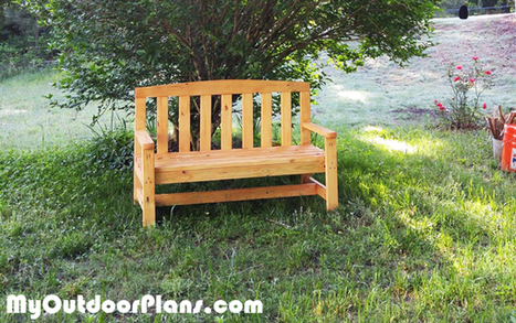 DIY 2x4 Outdoor Bench | MyOutdoorPlans | Free Woodworking Plans and Projects, DIY Shed, Wooden Playhouse, Pergola, Bbq | Garden Plans | Scoop.it