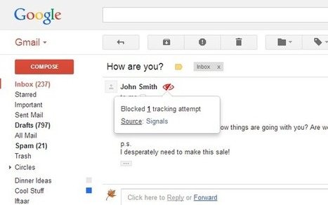 PixelBlock - Gmail extension to block tracking from email | Veille, outils et ressources numériques | Scoop.it
