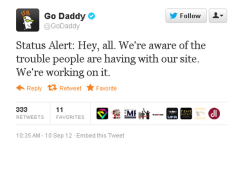 GoDaddy goes down, Anonymous claims responsibility | News Rush | Scoop.it