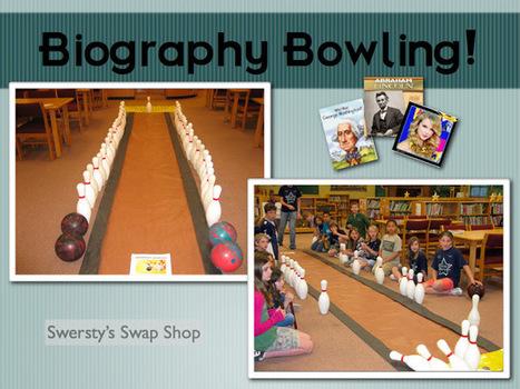 SWERSTY'S SWAP SHOP: Biography Bowling | Elementary Library | Scoop.it